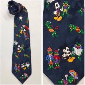 1980s Vintage Mickey Mouse Toad Silk Tie